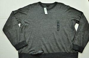 Apt 9 Sweater for Men Long Sleeve Merino Wool Striped /& Solid V Neck