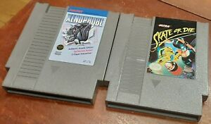 Nintendo NES Skate or Die & Xenophobe carts, cleaned and tested, authentic