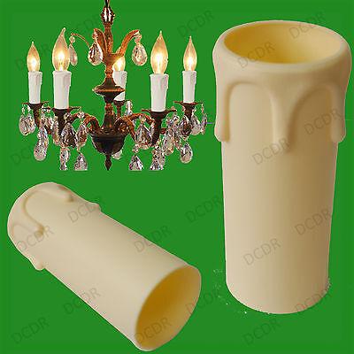 Creme Abtropft Kerzenwachs Effekt Kronleuchter Glühbirne Abdeckhülse 55mm X 27mm