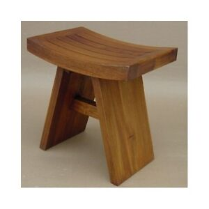 Image Is Loading Teak Shower Bench Stool Wood Bath Spa Seat