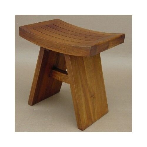 Teak Shower Bench Stool Wood Bath Spa Seat Bathtub Chair Heavy Duty ...