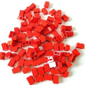 ACQUISTI LEGO 150X PIASTRE 1X2 ROSSO MISTE LOTTO PLATE SET KG SPED GRATIS SU