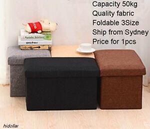 Image Is Loading FIBER FOOT STORAGE STOOL OTTOMAN ORGANISER TOY BOX