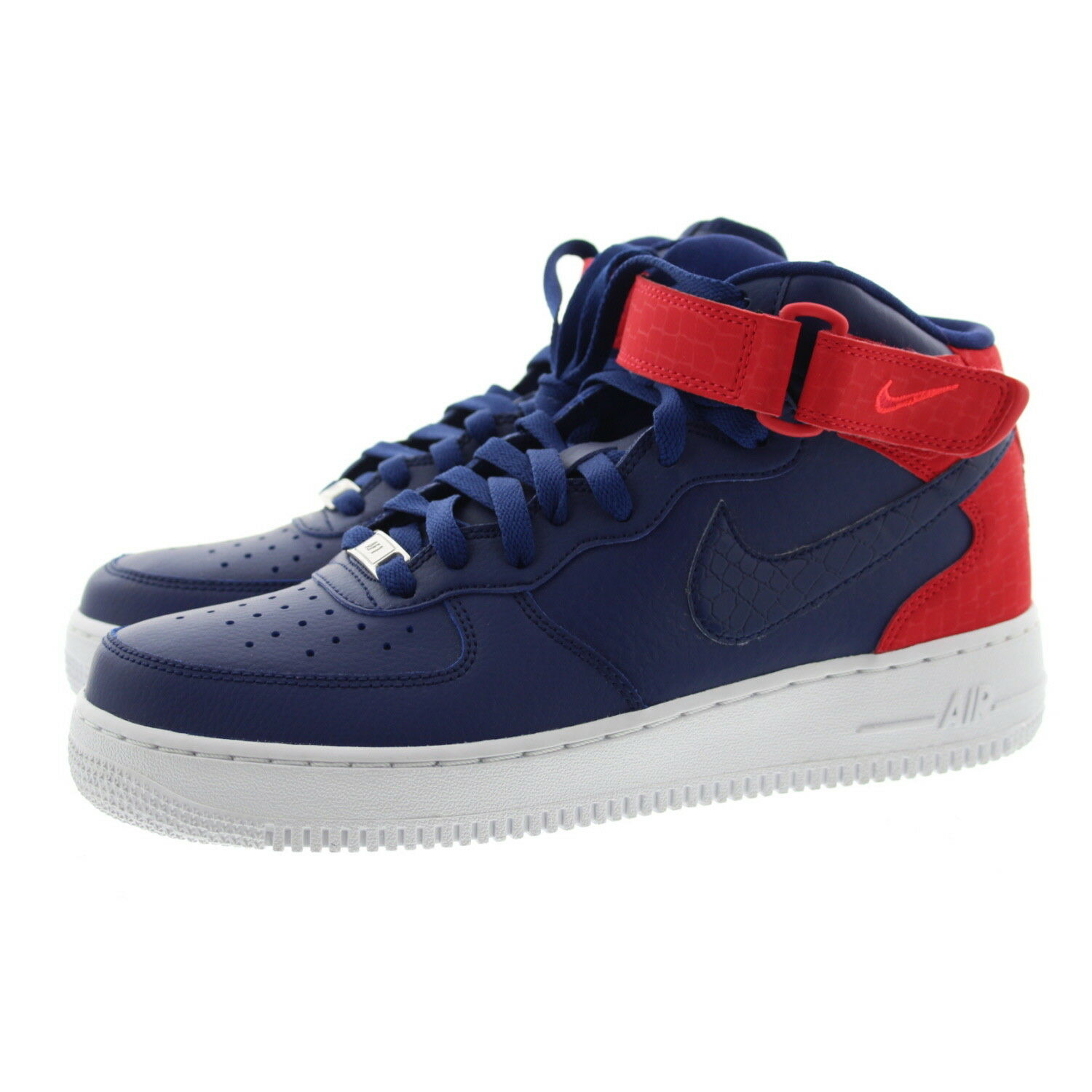 Nike 818596-400 Womens Air Force 1 Mid Top Patriotic Basketball shoes Sneakers