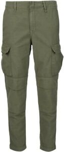 rag-amp-bone-Jeans-Cotton-Army-Cargo-Cropped-Pants-NWT-Size-26-250-Olive-Green