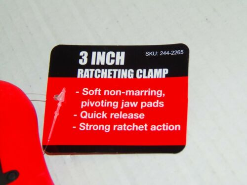 Neuf 1-3 in environ 7.62 cm Ratcheting Clamp livraison gratuite T-PO-123