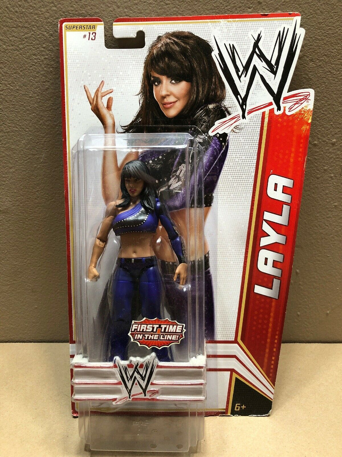 NEW 2011 WWE Diva LAYLA  Wrestler Figure First Time in the Line Mattel A20