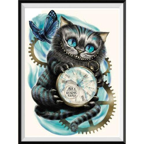 5D kits de pintura con cuentas Gatos imagen de pintura de diamante