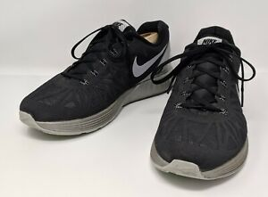 premium selection 9b247 be7cb Details about Nike (683651 001) - Lunarglide 6 Flash Black Running Shoes -  Men's US 10.5