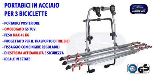Portabici posteriore DACIA DUSTER 2008/>2018 kit universale omologato portellone