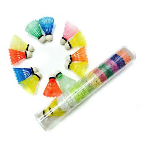 12 Pcs//Set Colorful Shuttlecocks Badminton Foam Balls Leisure Sport Games Sunshi