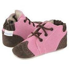 NIP Robeez Shoes Mini Shoez Booties Classic Boot Laces Rose Brown 3-6m 1.5 2