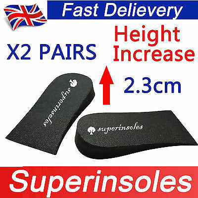 Superinsole 2 Pares Unisex Espuma elevación del talón Pad Zapato insoles-increase Altura