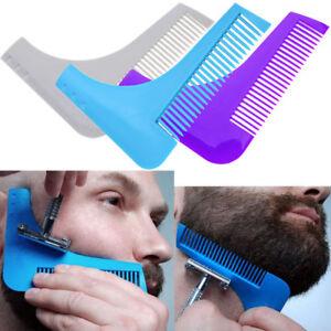 Pettine-modella-rifinisce-barba-pizzetto-basette-strumento-rasatura-beard-shaper