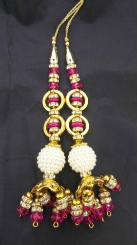Fancy Blouse Latkan Tassel  Sewing Craft Hand bag Fashion accessories 1 pair.