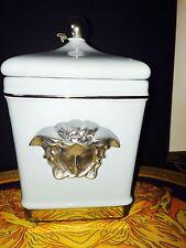 MEDUSA BATH JAR COVERED light blue color  ESTATE