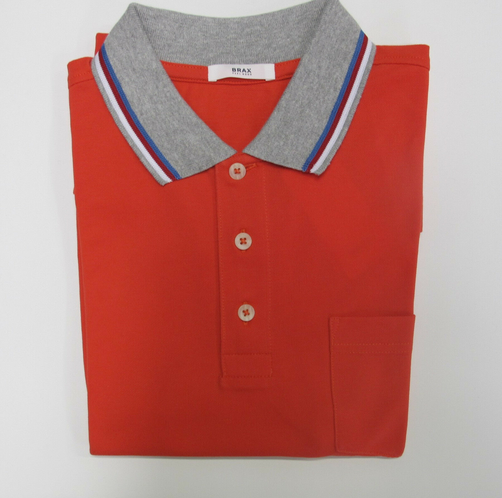 Brax Polo Shirt Kurzarm Gr. M, L, XL,XXL Rot