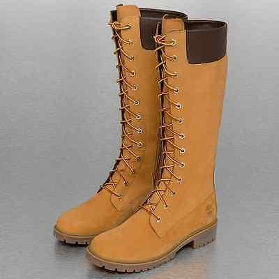 Timberland Winterstiefel Boots Damen Gr. 36 Beige Schnürstiefel Wheat 14Inch Zip | eBay