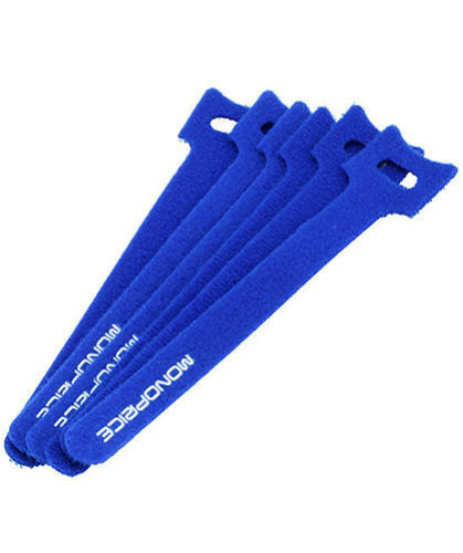 "50 x 6/"" Blue Cable Ties Straps Reusable Hook Loop Wire Strap Tie"