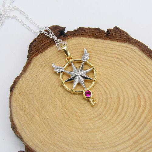 Cardcaptor Sakura Clear Card Arc Cosplay Key Wand Necklace Amulet Funny