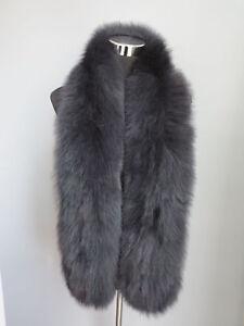 Braid 100% Genuine fox fur scarf /cape/ collar /wrap li