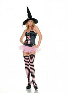 Leg-Avenue-3-Piece-Sexy-Pink-Witch-Fancy-Dress-Party-Costume-Halloween-83233