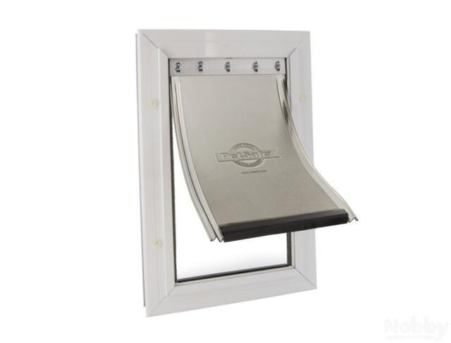 Staywell Katzentür 600 Aluminium weiß 29,8x20,1cm