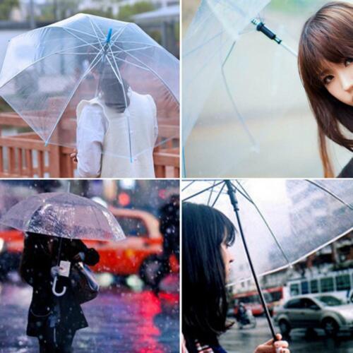 Clear Umbrella Transparent Mushroom Weeding Party Parasol Portable Rain PVC 8 Ri