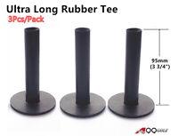 A99 Golf Ultra Long Rubber Tee Black 3 3/4 (95mm) (3pcs)