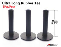 A99 Golf Ultra Long Rubber Tee Black 3 3/4 (95mm) (3pcs)