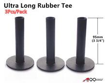 3pcs/pack A99 Golf Rubber Tees Black Color 3 3/4 (95mm) Ultra Long