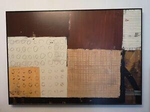 John-Lewis-Abstract-Large-Dark-Wood-Box-Frame-Print-100cmx70cmx5cm