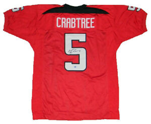 MICHAEL CRABTREE SIGNED AUTOGRAPHED TEXAS TECH RED RAIDERS #5 ...