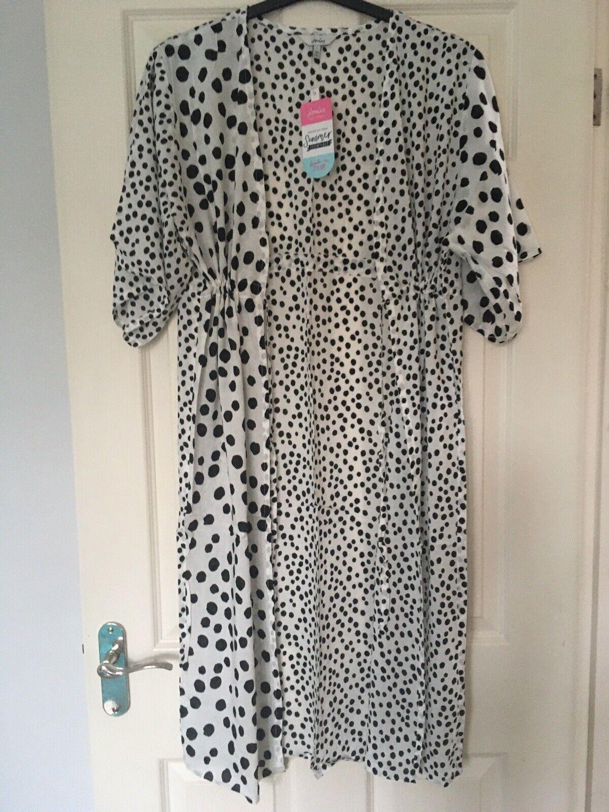 Joules Womens Tie Waist Cover Up - Dalmatian Spot - S BNWT