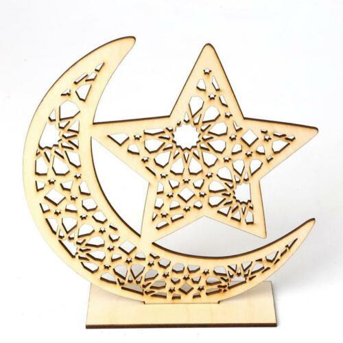 Eid Mubarak Ramadan Party Ornament Decor Muslim Islamic Crafts DIY Wooden