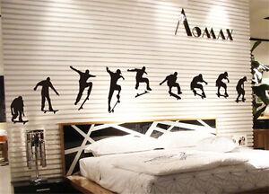 skate skateboard skater boy abnehmbarediy wandtattoo. Black Bedroom Furniture Sets. Home Design Ideas