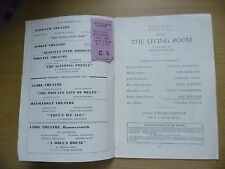 Wyndham's Theatre Programme & TICKET 1953- THE LIVING ROOM by Graham Greene