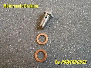 1x Suzuki M10 x 1.25 stainless steel motorcycle calliper brake banjo bolt
