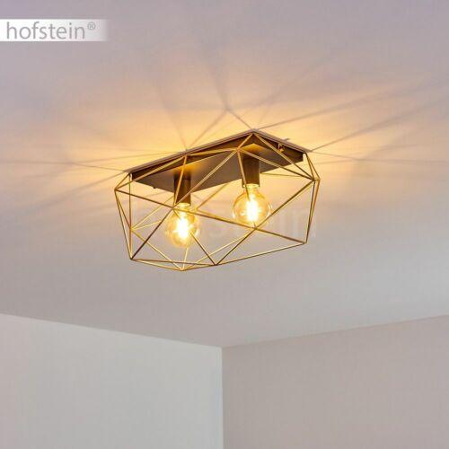 Decken Lampe Leuchte Metall schwarz Beleuchtung Vintage Wohn Schlaf Ess Zimmer