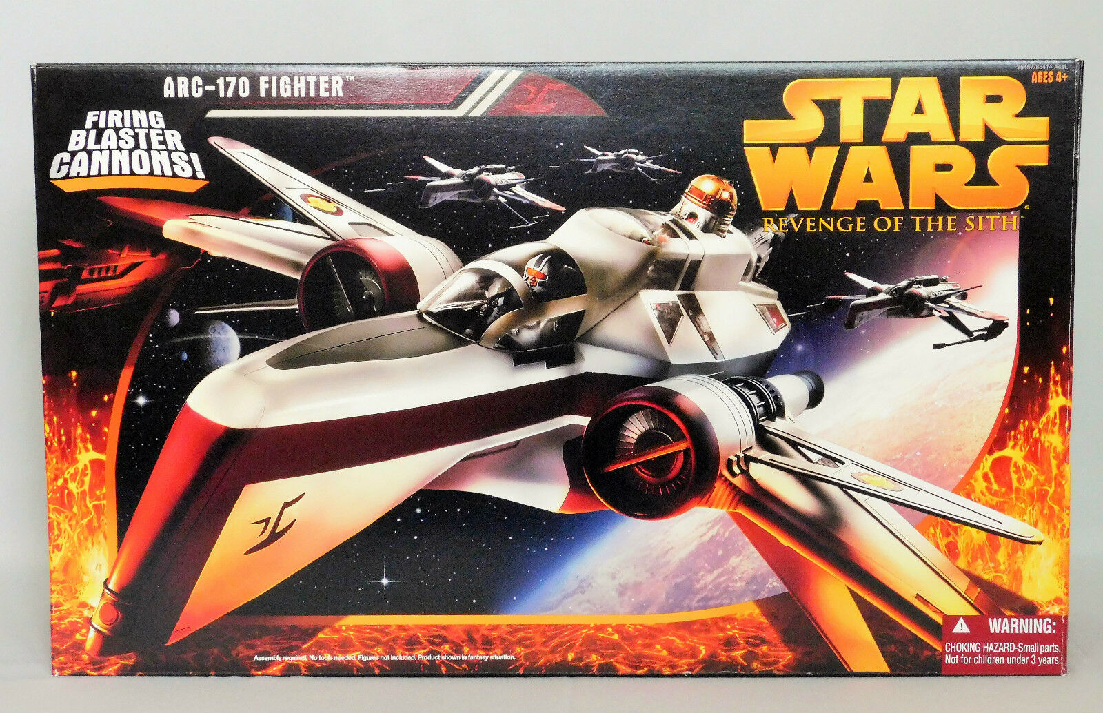 redS ARC-170 FIGHTER SHIP Star Wars Revenge of the Sith FIRING CANNONS _NRFB