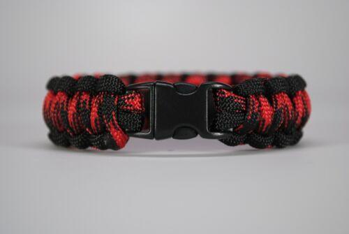 "550 Paracord Survival Bracelet Cobra Black//Black Widow /""Made in the USA/"""