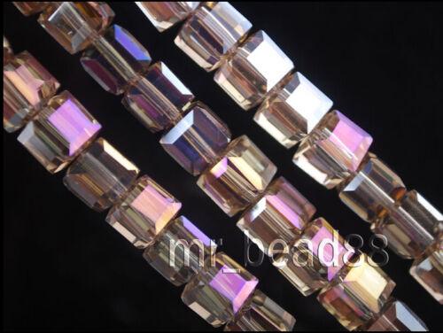 Pretty 50Pcs Verre Cristal Cube Carré Bracelet /& collier finding Beads 8x8x8mm