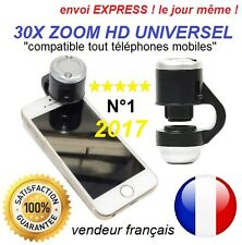30X zoom microscope camera universel mobile 4G iphone LG HTC Sony nouveau 2017