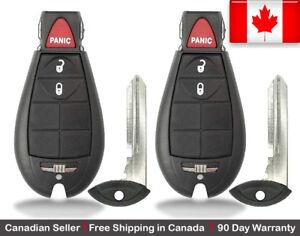 2x-New-Keyless-Entry-Remote-Key-Fob-For-Chrysler-Dodge-Volkswagen-Caravan