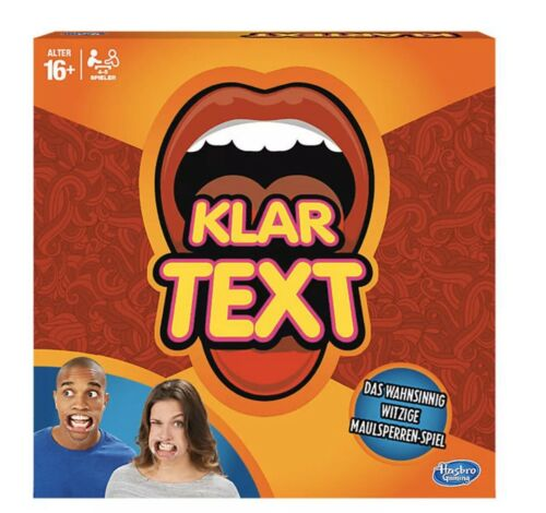 Hasbro Speak Out Klar Text Challenge Game 10 Mouthpieces German Version SEALED