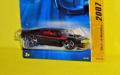 2007 Hot Wheels New Model #004 /'69 Ford Mustang Variant Black