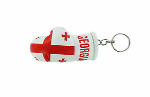 Keychain Mini boxing gloves key chain ring flag key ring cute red color