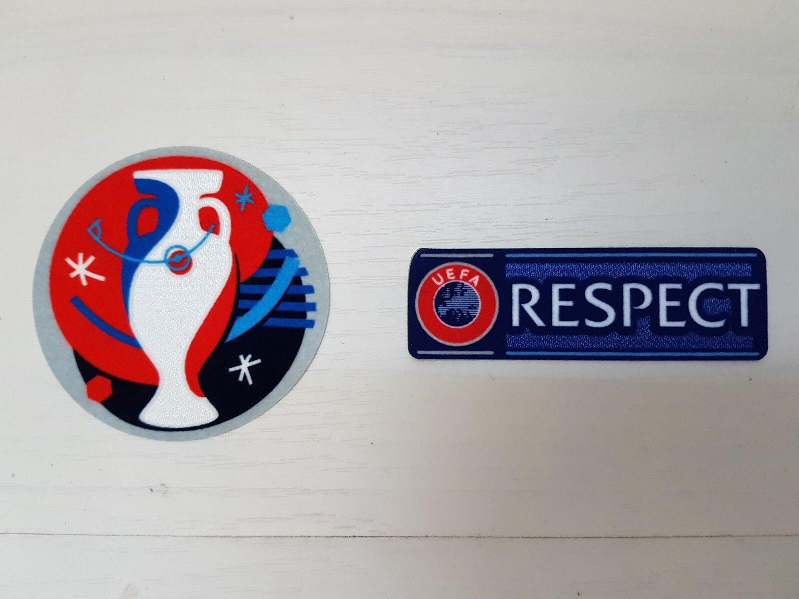 EURO 2016 EURO 16 + BADGE RESPECT PATCH BADGE + EUROPEI TOPPA UEFA FRANCIA CALCIO 1f3cfc