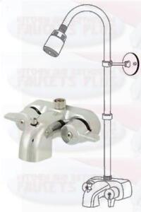 Add Shower To Clawfoot Tub. Image is loading Chrome Bathroom Add A Shower Clawfoot Tub Diverter  Faucet Kit eBay