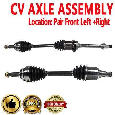 NCV69602 NCV69590 CV Joint Axle Assembly Front Pair Set of 2 CV Axles Fit s/Scion TC Base Coupe 2.4L I4 2005-2010 Replacement No